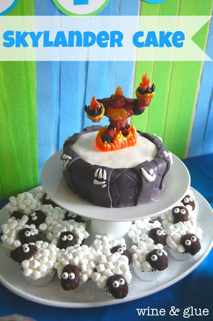 Phenomenal Skylander Portal Cake Sheep Cupcakes Wine Glue Funny Birthday Cards Online Inifodamsfinfo