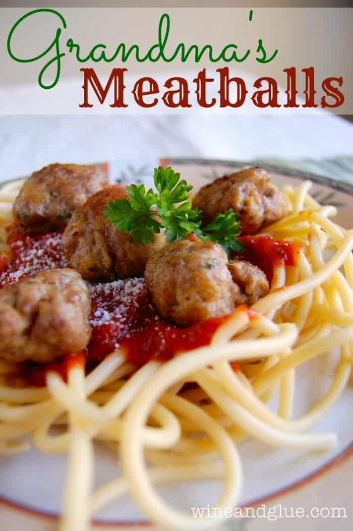 Italian Meatballs!  The only meatball recipe you'll ever need! via www.wineandglue.com
