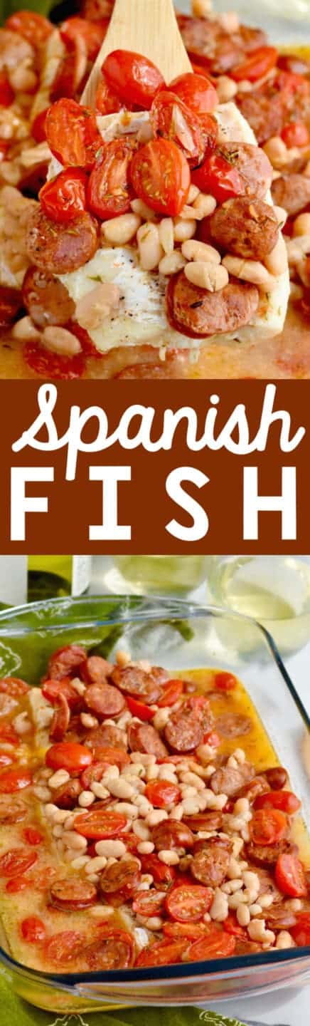 This Spanish Fish is a delicious easy dinner that comes together in 30 minutes!