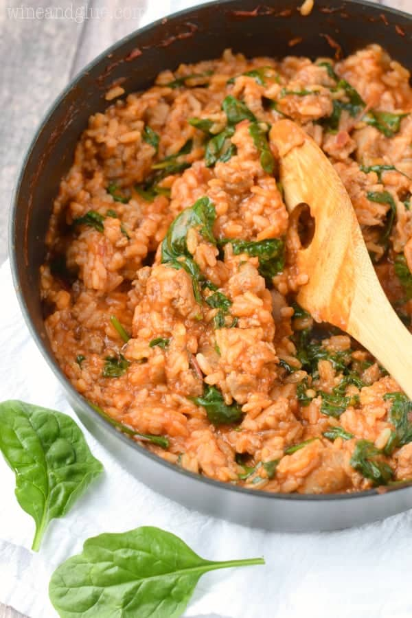 Tomato Sausage Risotto | This risotto is my all time favorite dish. It's rich in flavor and pretty healthy too!