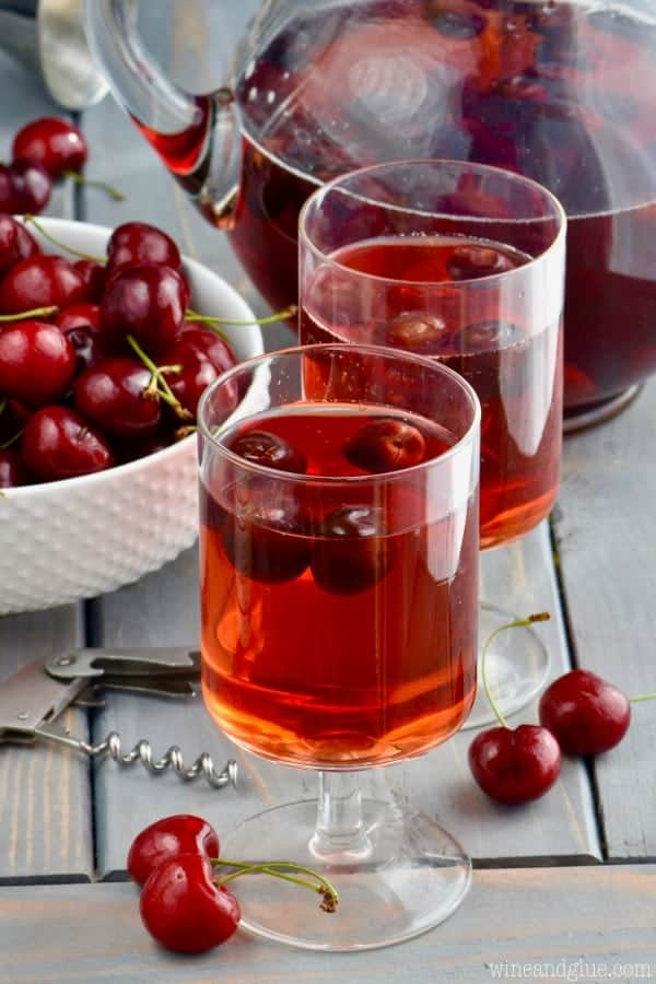 Just FOUR ingredients for this simple but irresistible Cherry Sangria!