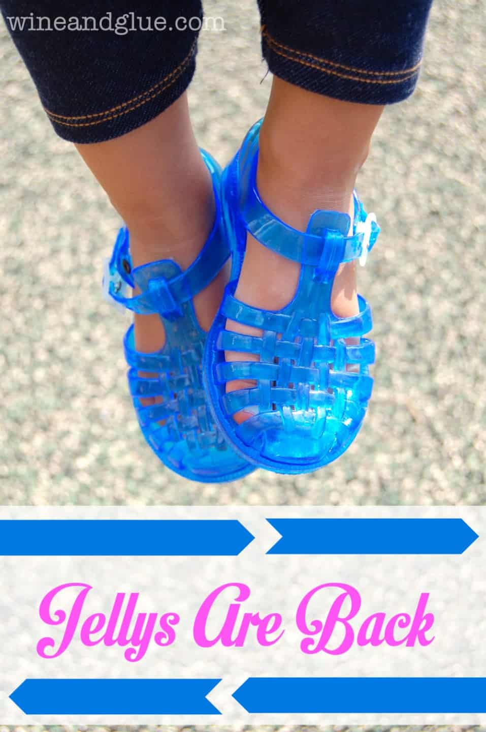 Jelly Bean shoes are the perfect comfortable cute shoe for any summer activity via www.wineandglue.com #JellysAreBack #pmedia #ad