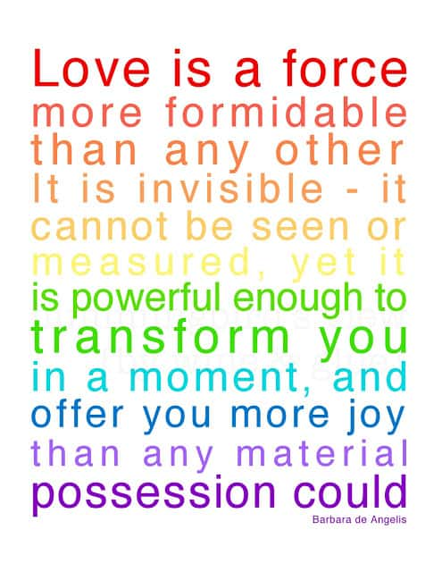 A Quote about Love, a printable for a good cause, 100% of the cost goes to Ronald McDonald House Charities via www.wineandglue.com