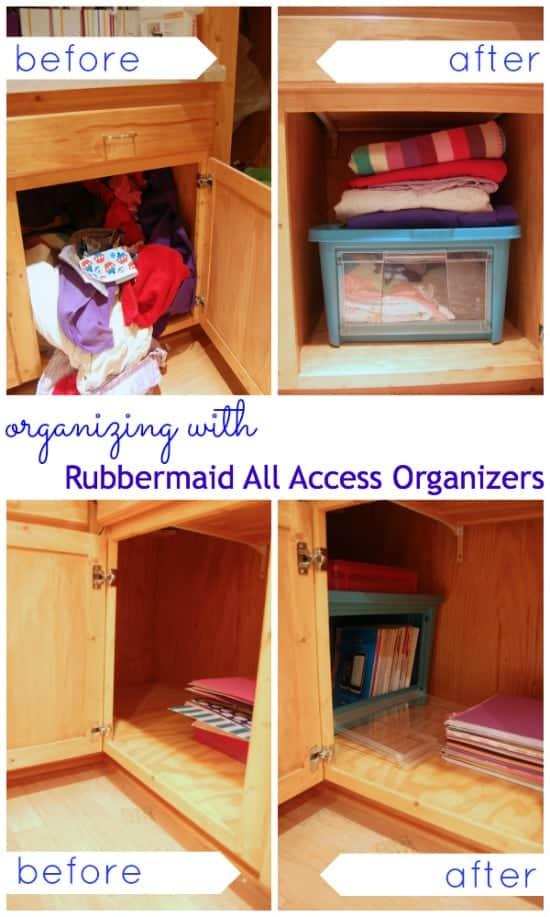 Organizing made easy with Rubbermaid #AllAccessOrganizer #PMedia