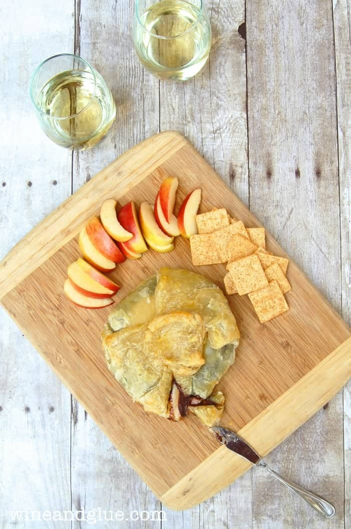 The perfect combination of sweet and savory with Baked Gouda and Dark Chocolate baked inside a Puff Pastry. via www.wineandglue.com