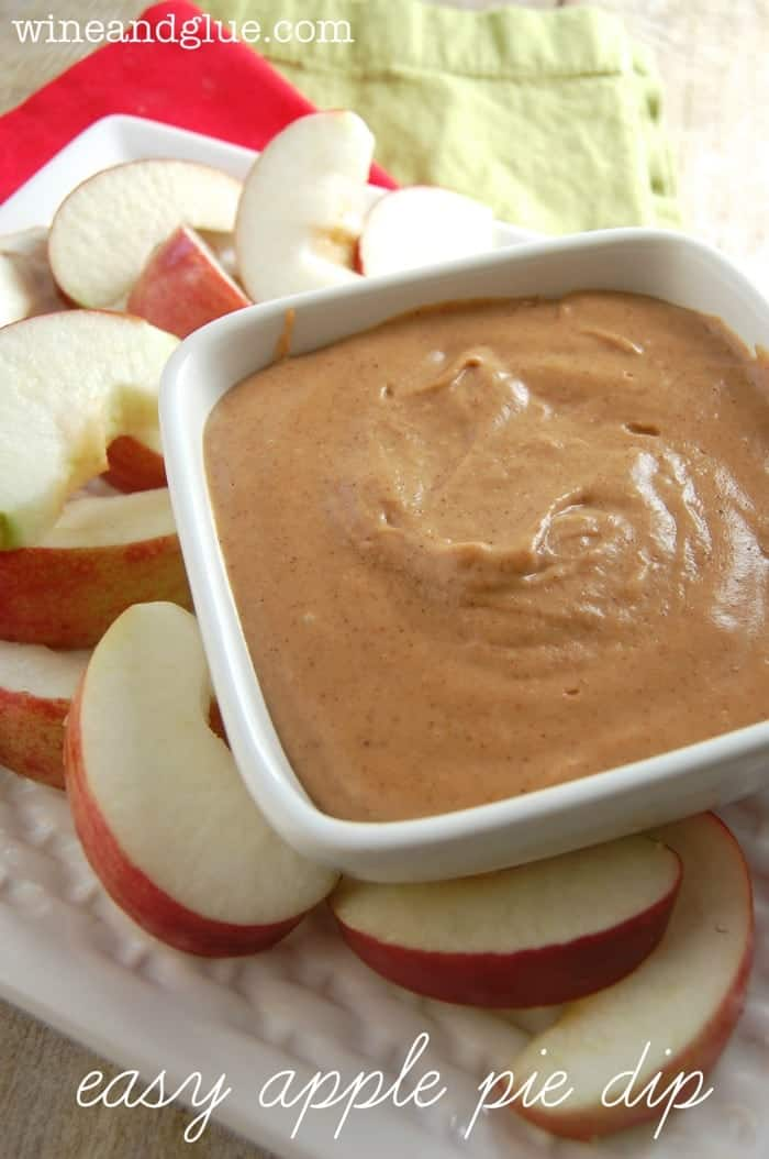 Apple Pie Dip | This dip is so creamy and delicious that you will want to make it again and again! via www.wineandglue.com