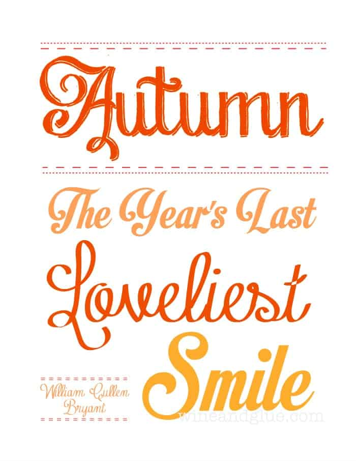 A {Free} Autumn Printable via www.wineandglue.com