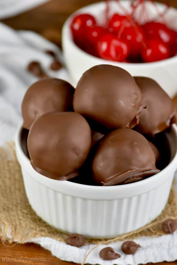 These Chocolate Covered Cherry Brownie Bombs can be made from scratch or easy with a box mix!