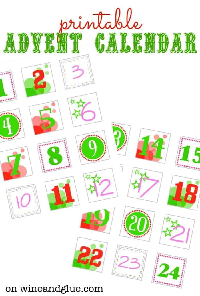 DIY Advent Calendar!  Complete with FREE Printables to make it super easy! via www.wineandglue.com #sponsored