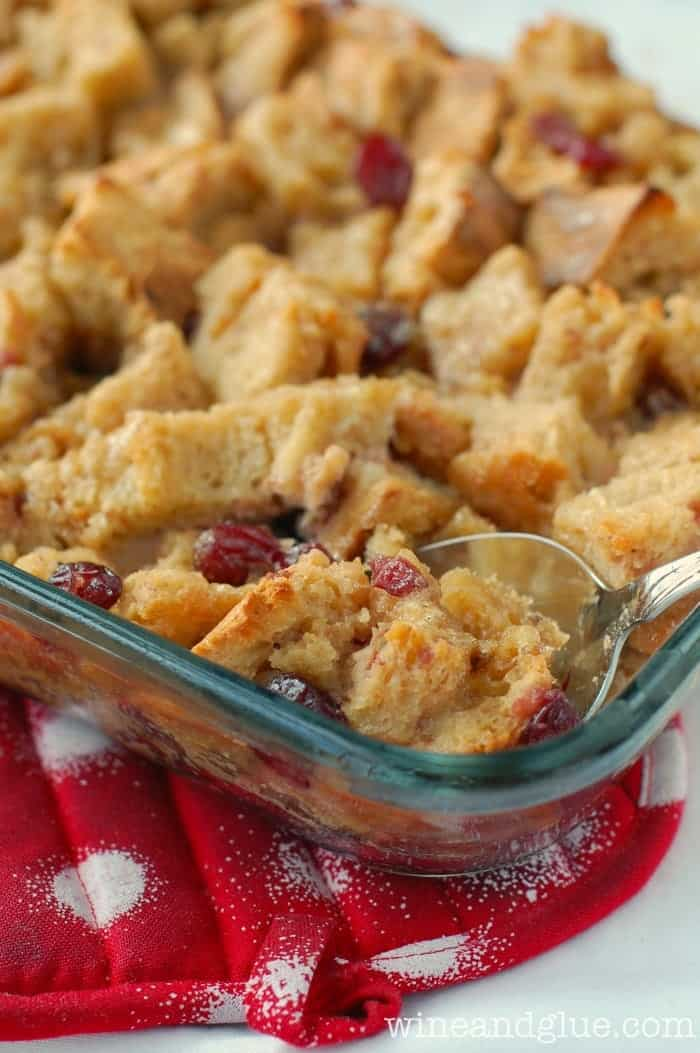 Cranberry French Toast Casserole is an easy and delicious breakfast bake. Rich and fragrant, it's the perfect recipe for Christmas morning!