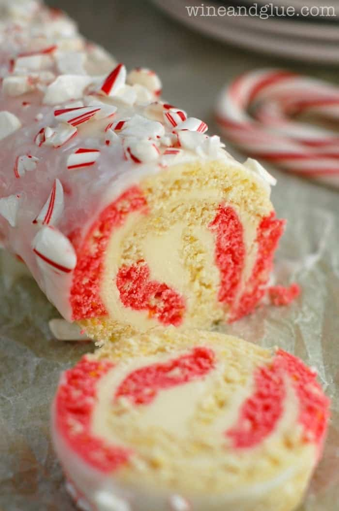 This Candy Cane Cake Roll is a gorgeous and delicious cake for Christmas time!