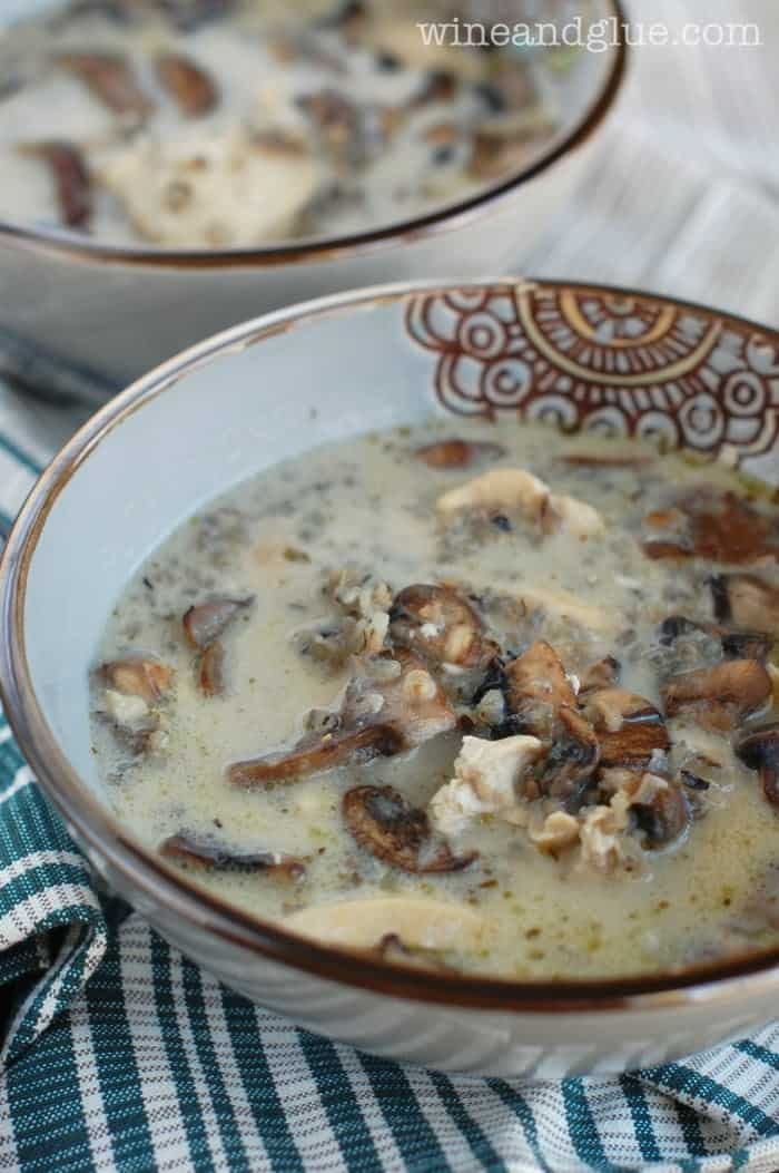 Creamy Chicken Mushroom and Wild Rice Soup