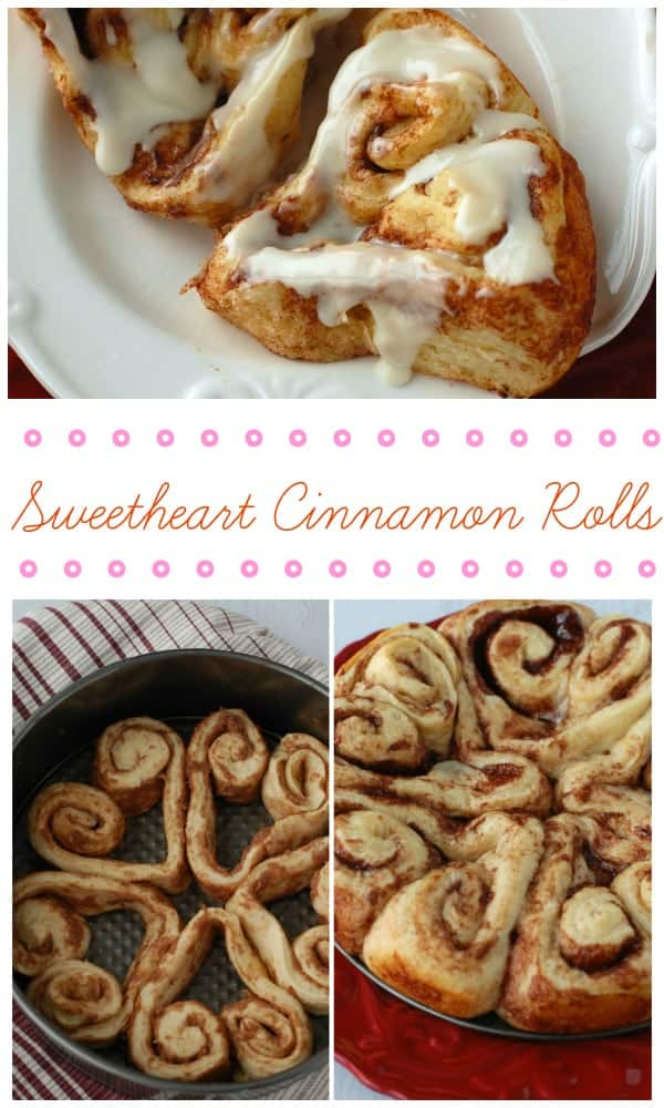Easy to make heart shaped cinnamon rolls! | www.wineandglue.com