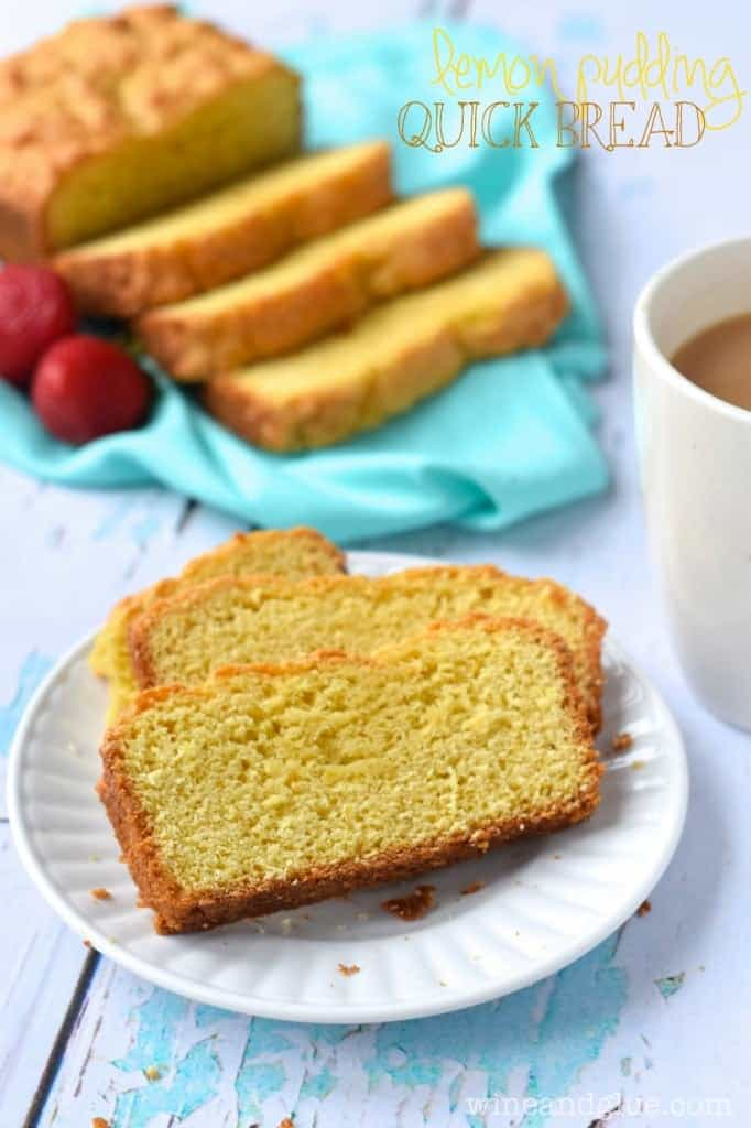 This Lemon Pudding Quick Bread is sweet, moist, and has a fantastic lemon punch!