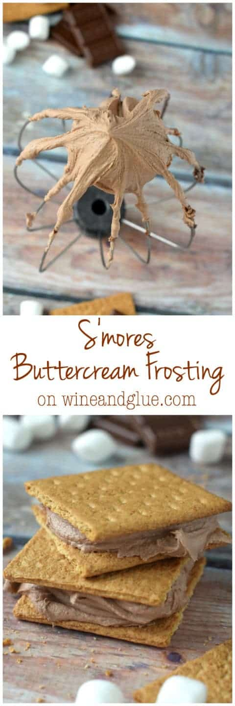 Delicious buttercream frosting that tastes just like your favorite campfire treat!