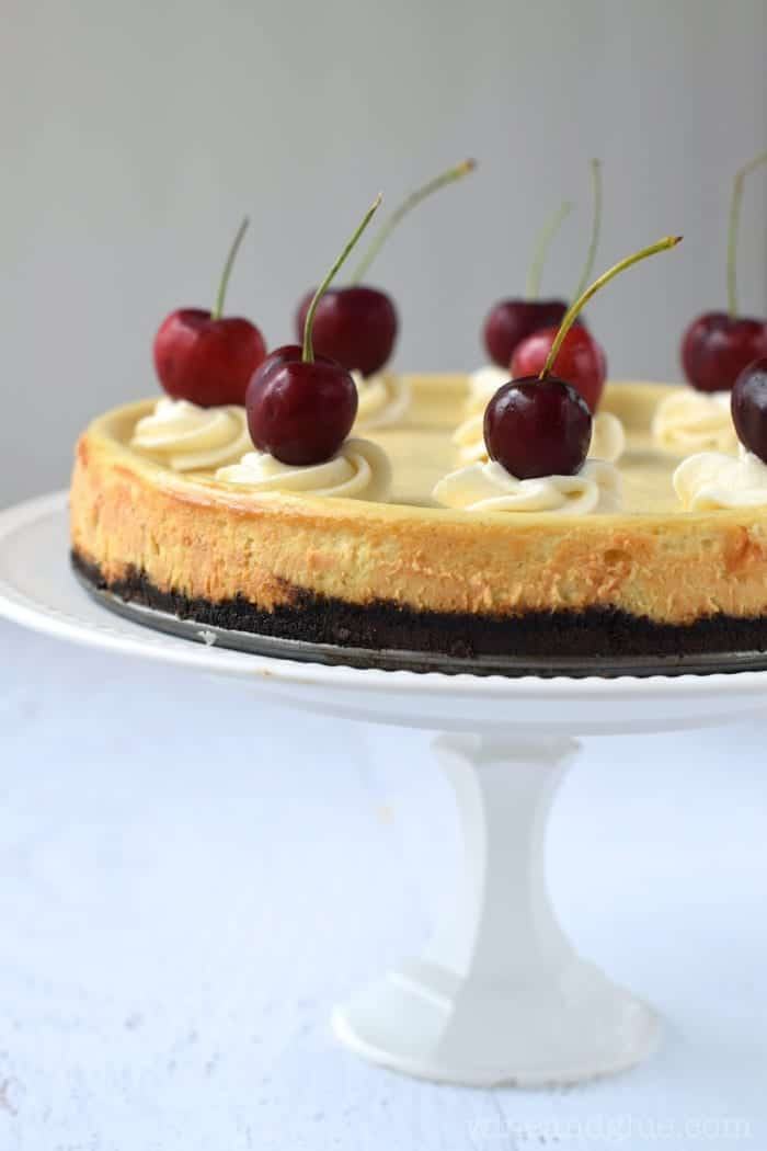 Indulge your sweet tooth with Vanilla Bean Cheesecake.