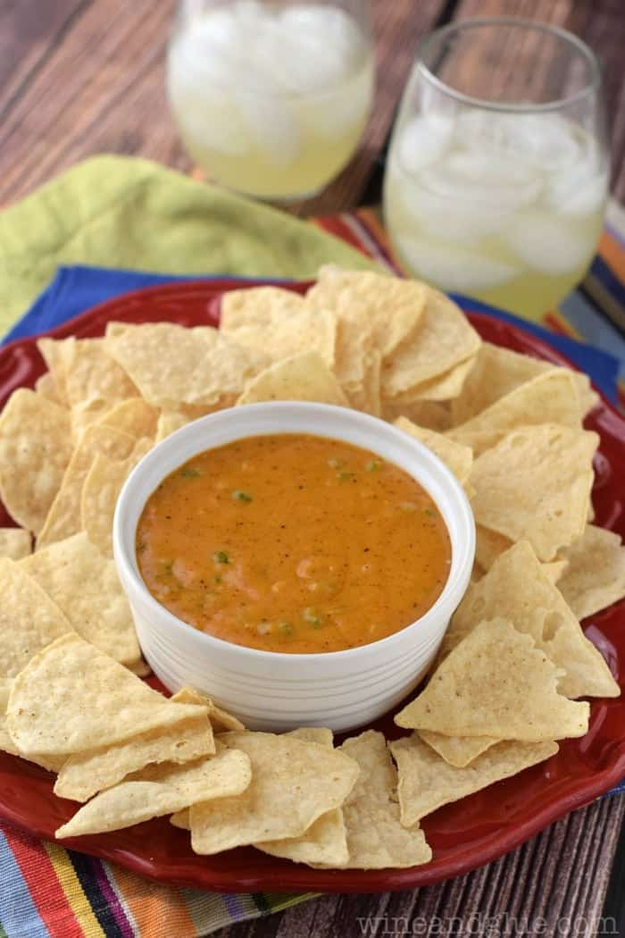This Homemade Queso Sauce comes together in a flash and is super yummy!