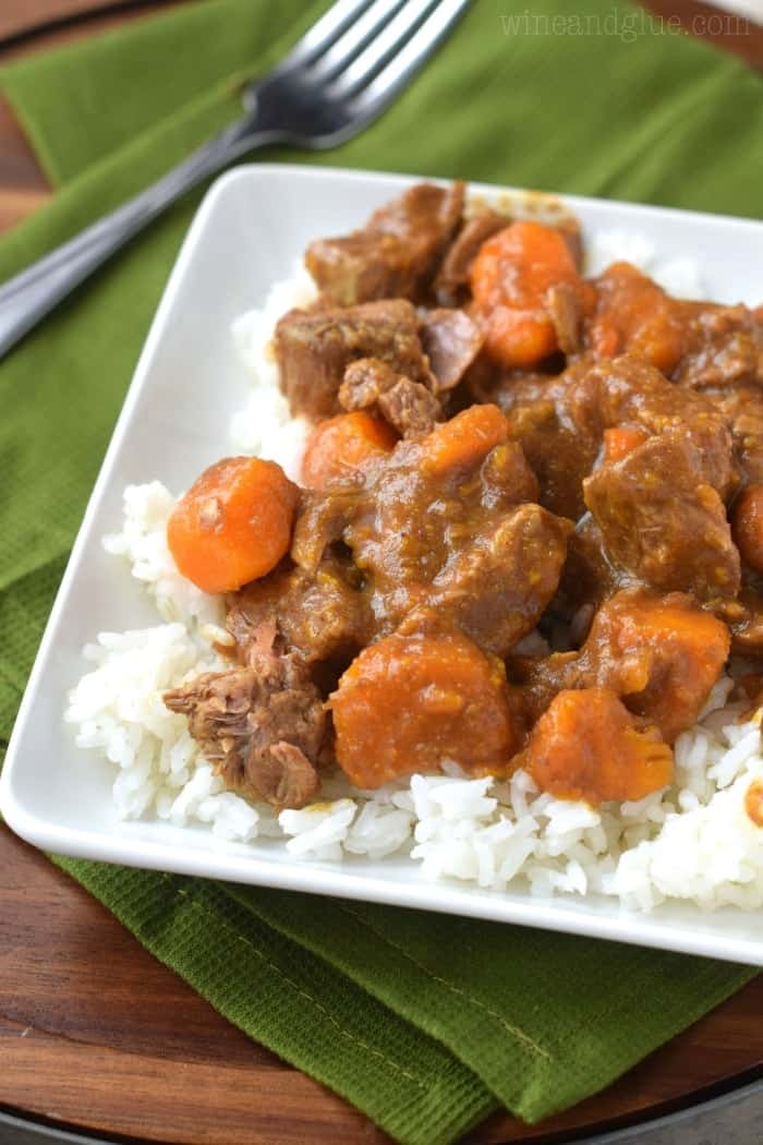 Crock Pot Beef Curry is an easy weeknight meal. Packed with bold flavors, it tastes just like takeout, but without the crazy price tag!
