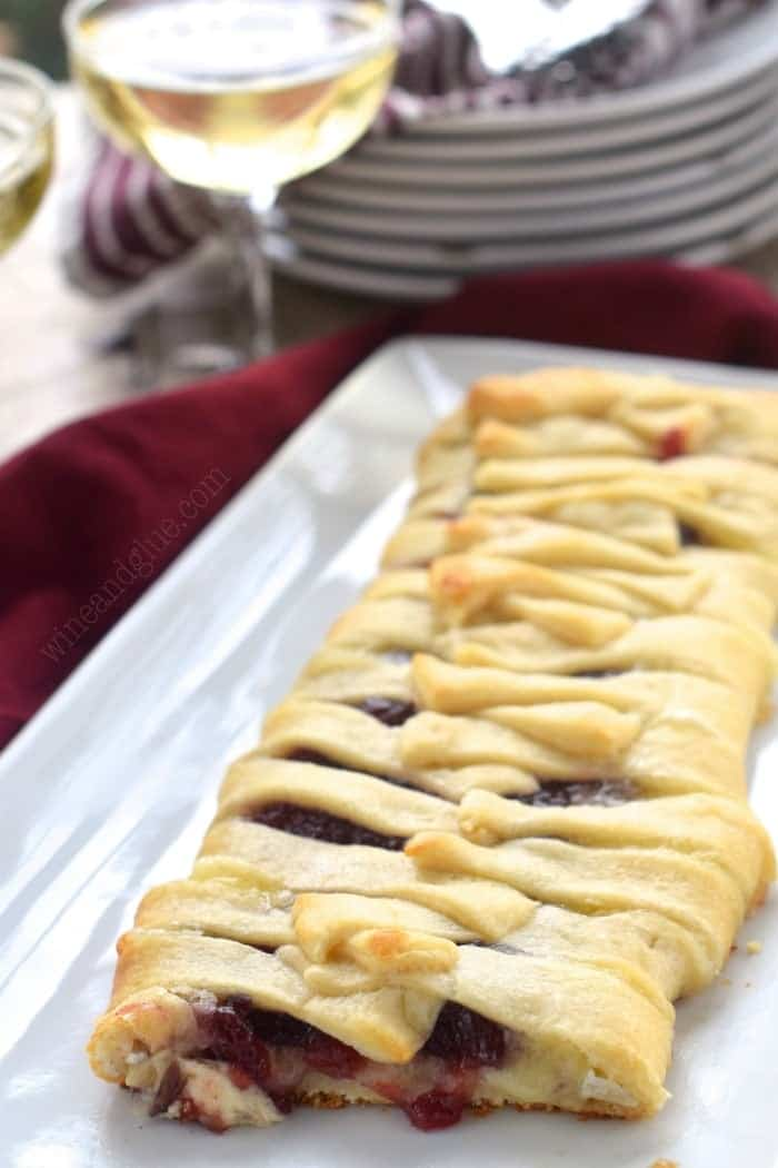 This Cranberry Brie Braid could not be easier, but it is gorgeous and makes for a great fancy appetizer!