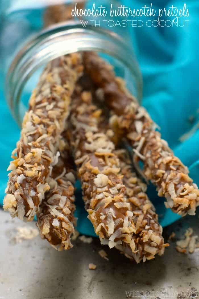 These Chocolate Butterscotch Pretzels with Toasted Coconut are a really simple treat to make, but so delicious!