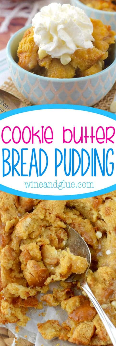 cookie_butter_bread_pudding_dessert_easy