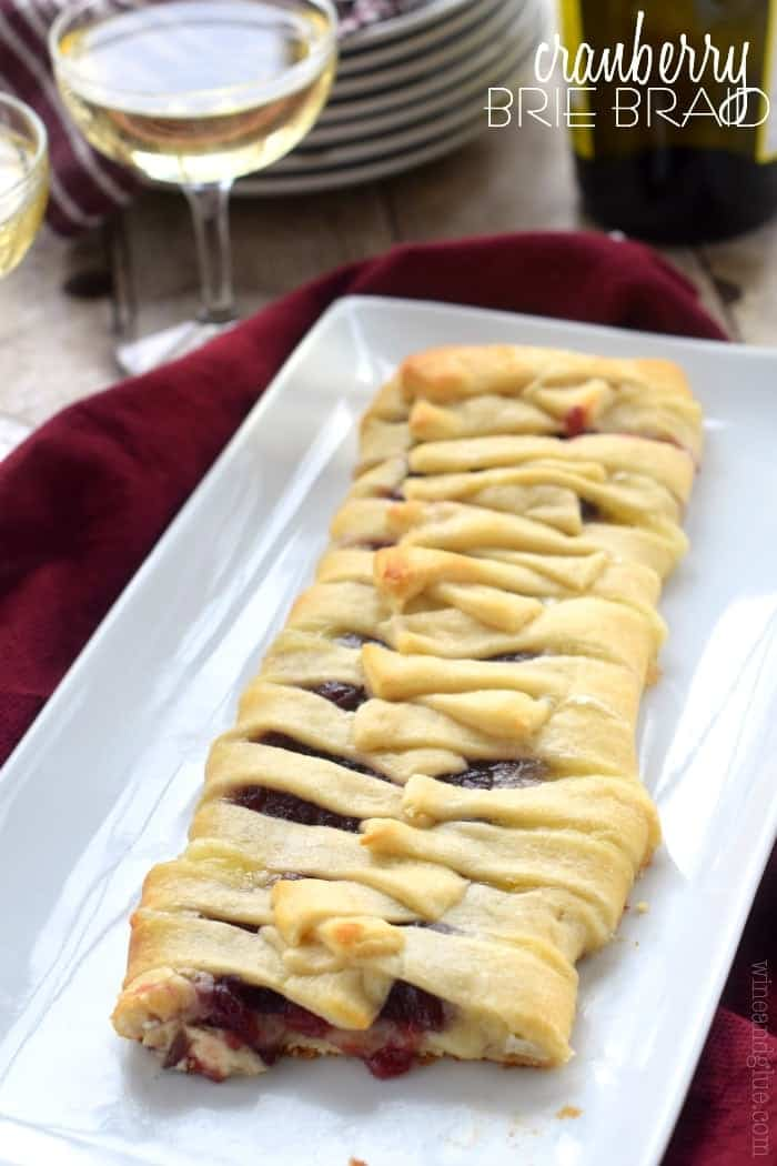 Cranberry Brie Braid