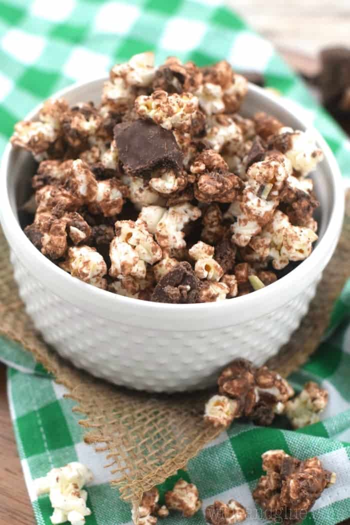 This Grasshopper Popcorn is ridiculously easy, fast, and addictively yummy!