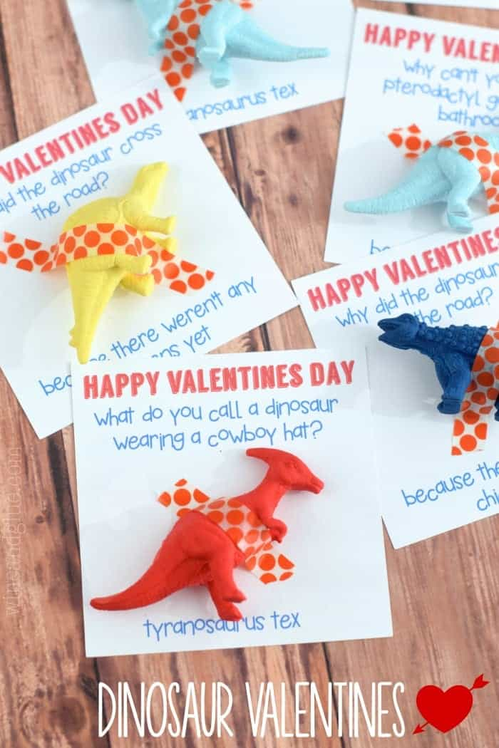 A cute Dinosaur Valentine that comes complete with a funny joke!  What more could you ask for?