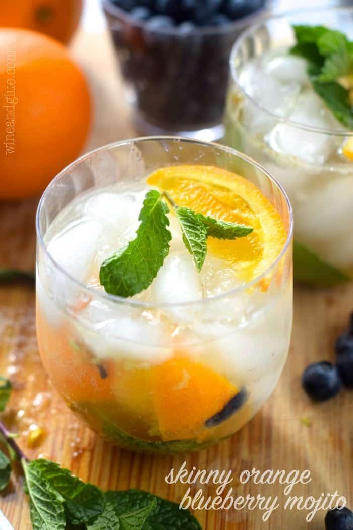 Skinny Orange Blueberry Mojito