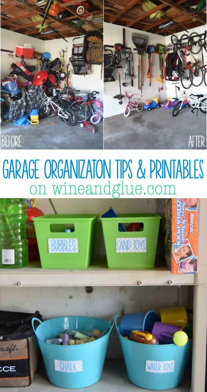 Simple Garage Organization Tips and some Printables to get you started!