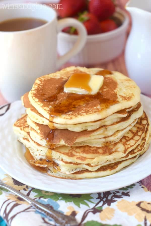 These Copycat Pancake House Pancakes are perfectly delicious buttermilk pancakes that you can have at home!