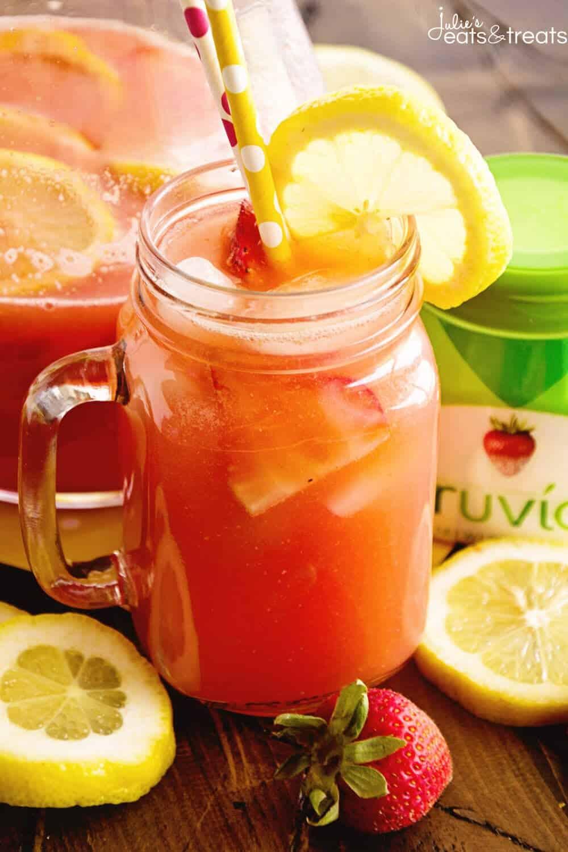Skinny Spiked Strawberry Lemonade
