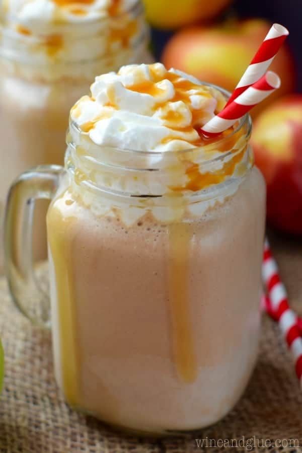 This Caramel Apple Milkshake is packed with both apple and caramel flavor and then smothered in caramel sauce! This milkshake needs to be on your fall bucket list!