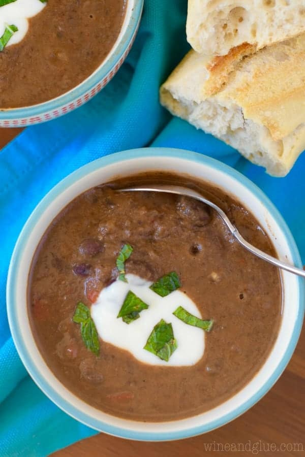 This Creamy Chipotle Black Bean Soup has all the makings of a perfect and delicious dinner!  Plus it's totally vegan and a meal you can feel great about serving to your family!