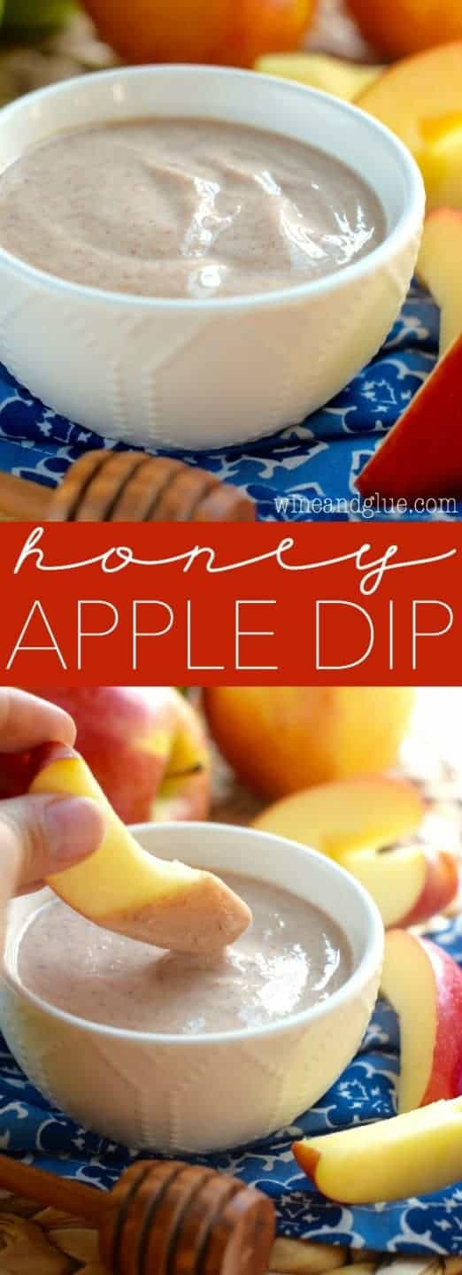 This Honey Apple Dip is so easy to whip up and makes a perfect after school snack!