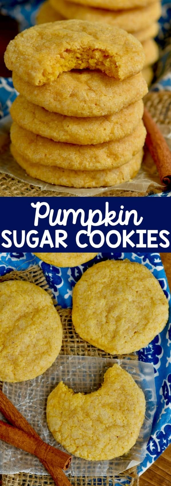 These Pumpkin Sugar Cookies are absolutely amazing!  Deliciously soft and full of pumpkin fall flavor!  Bound to become a family favorite!