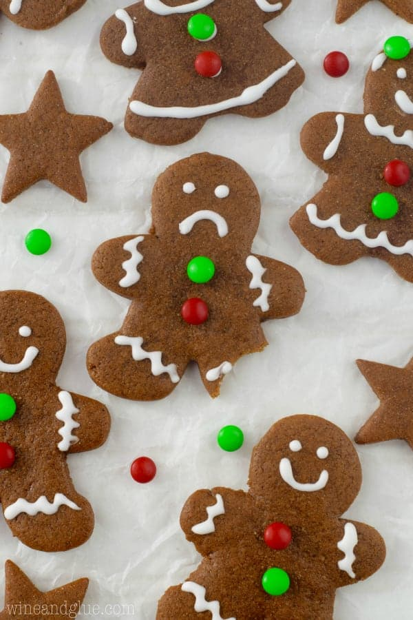 These Gingerbread Cookies make for the cutest Gingerbread Men. They're soft, keep their shape and have the perfect spice!