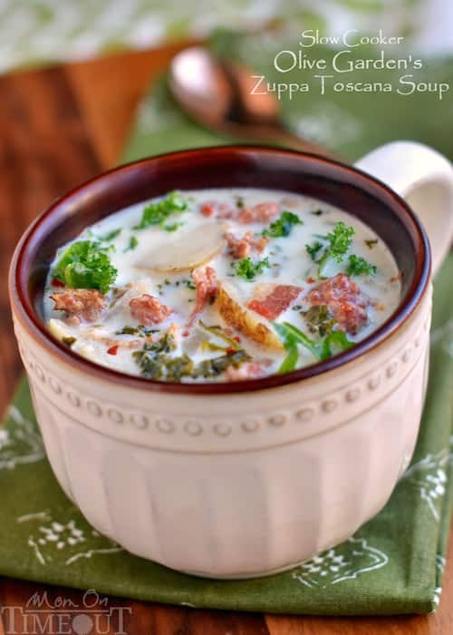 Slow Cooker Olive Garden Zuppa Toscana Soup