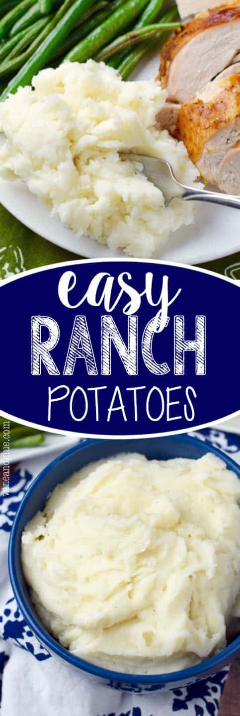 These Easy Ranch Potatoes are so fast to put together and deliciously creamy!