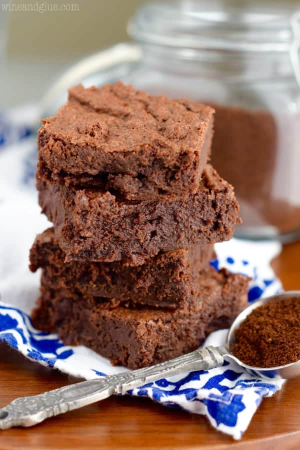 These Mocha Fudge Brownies are rich, fudgey and absolutely delicious. Mix them up in one big bowl and they are easy too!