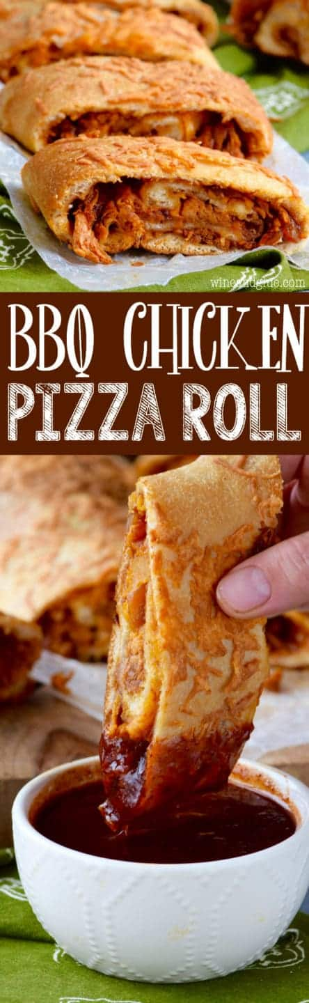 This BBQ Chicken Pizza Roll is a jam packed flavorful dinner you're family will love!