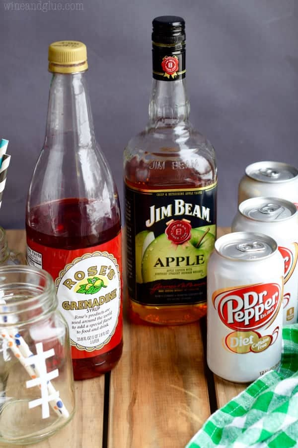 These Super Bowl Slammers are a simple Dr Pepper Cocktail that is perfect for gameday or any day!
