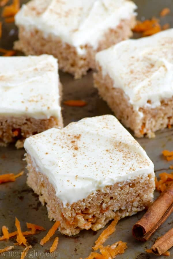 These Carrot Cake Rice Krispies® Treats are an absolutely amazing twist on your favorite easy treat!