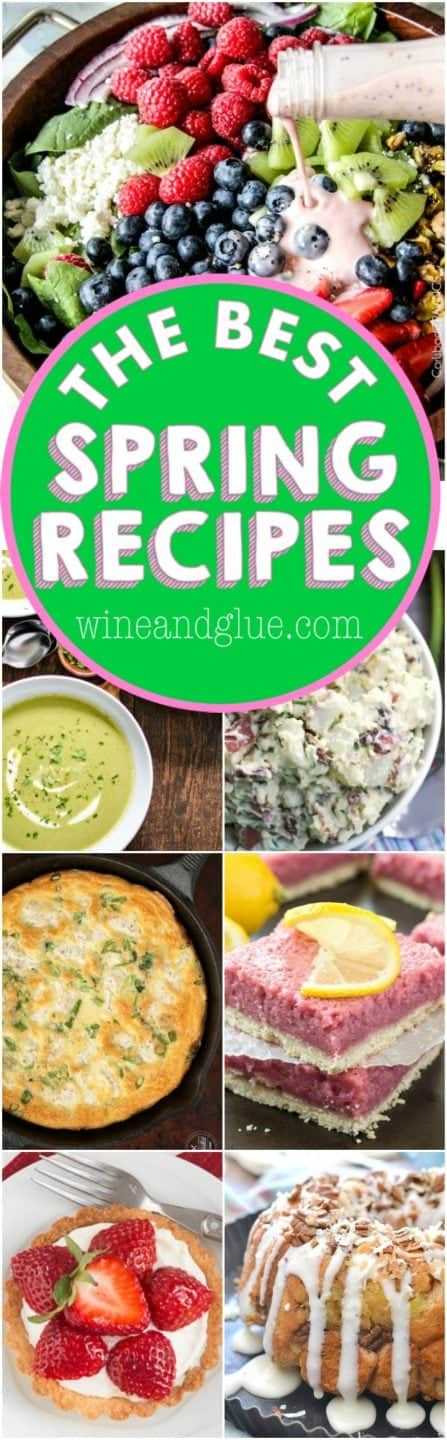 More than 30 of the best recipes for SPRING!