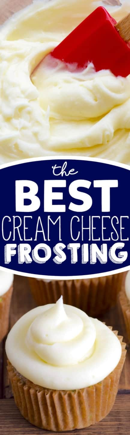 Throw out all your other cream cheese frosting recipes because this is The BEST Cream Cheese Frosting recipe!