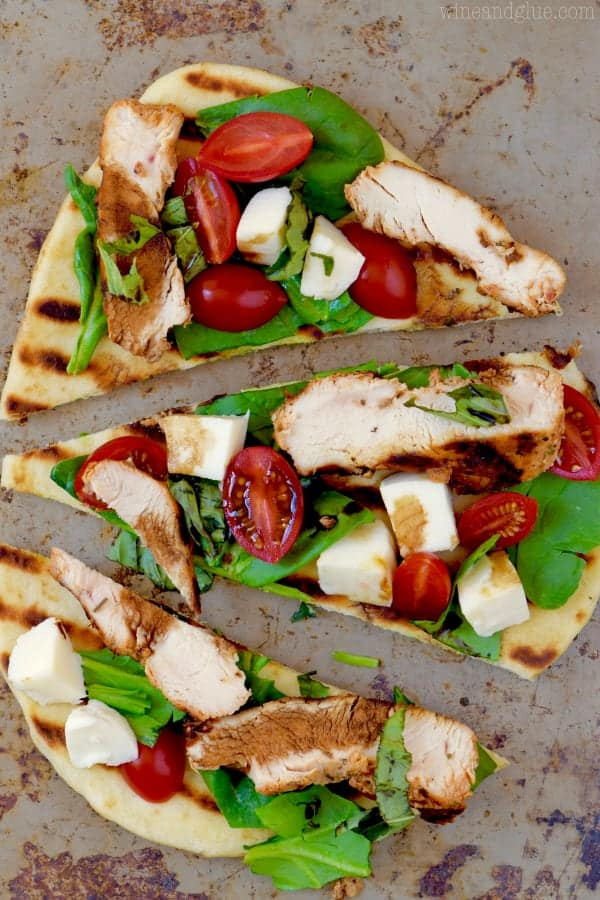 This Grilled Chicken Capese Flat Bread is just about as easy as it comes and packed with delicious flavor! Perfect for weeknight grilling!