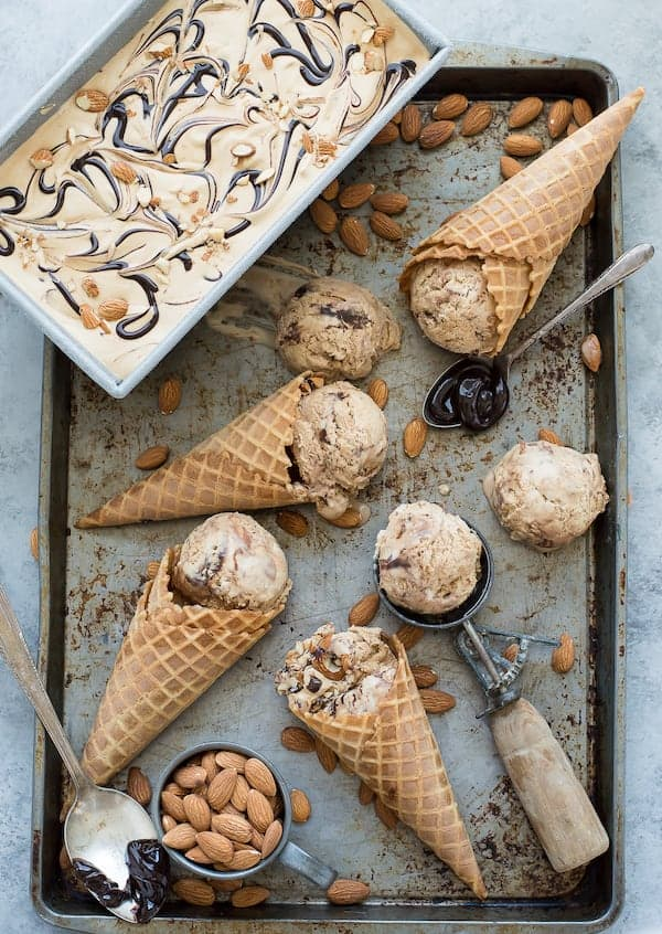 Mocha Fudge Almond Ice Cream