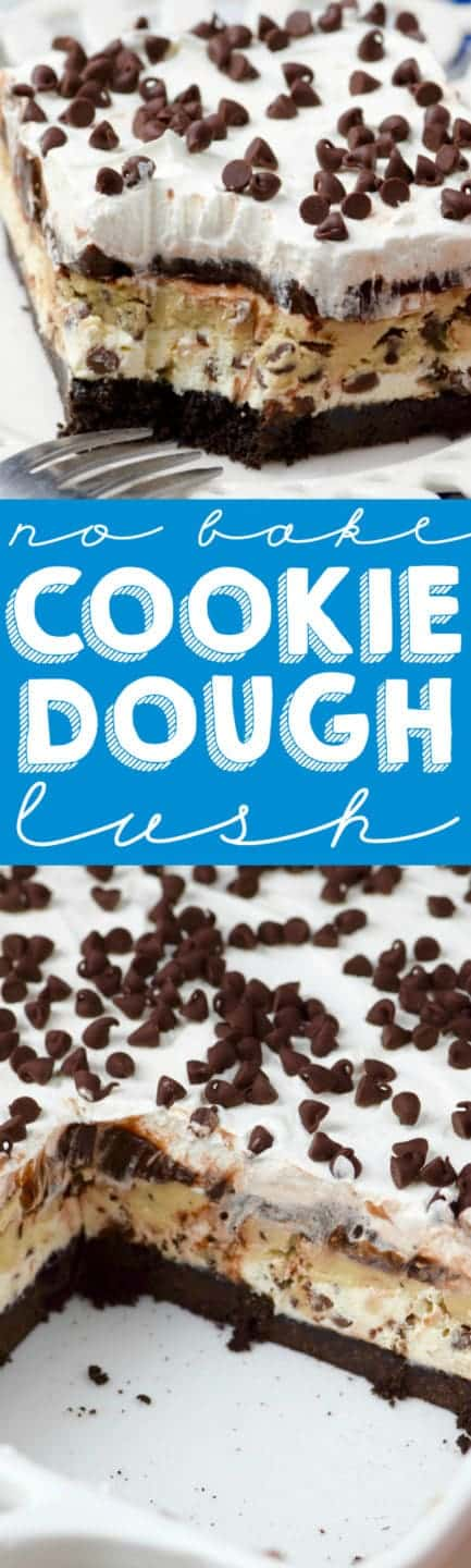 This Cookie Dough Lush is rich layer after rich layer, making for the most decadent amazing no bake dessert ever.