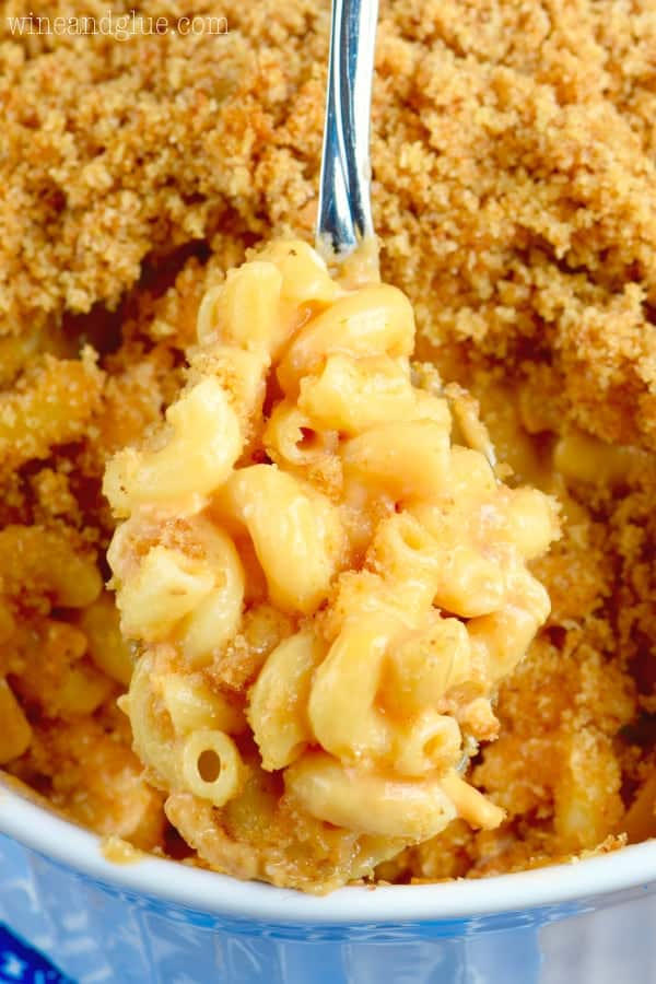 This BBQ Chicken Macaroni and Cheese is such an easy twist on a classic and so delicious! Total comfort food!