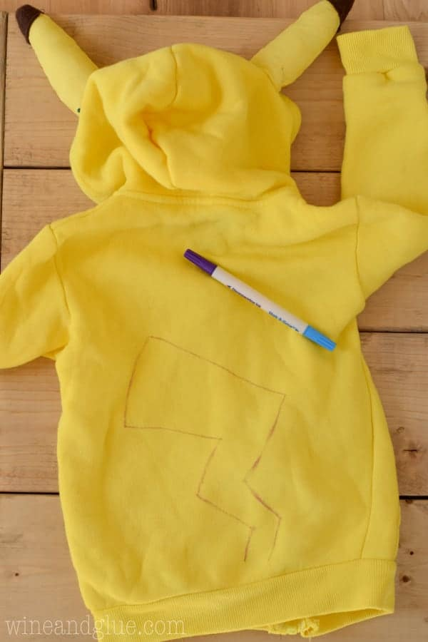 This DIY Pikachu Costume is maybe the cutest Pokémon Costume ever! And a sweatshirt that the kiddos can wear over and over.